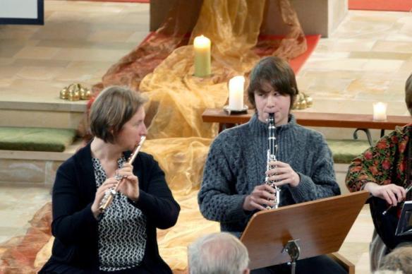 Singen Flöte und Klarinette