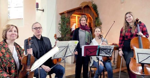 Singen Musiker Krippe