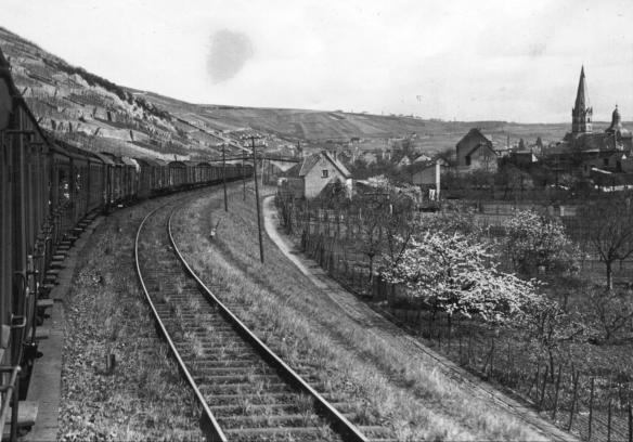 Bahngleise kurz vor der Ankunft