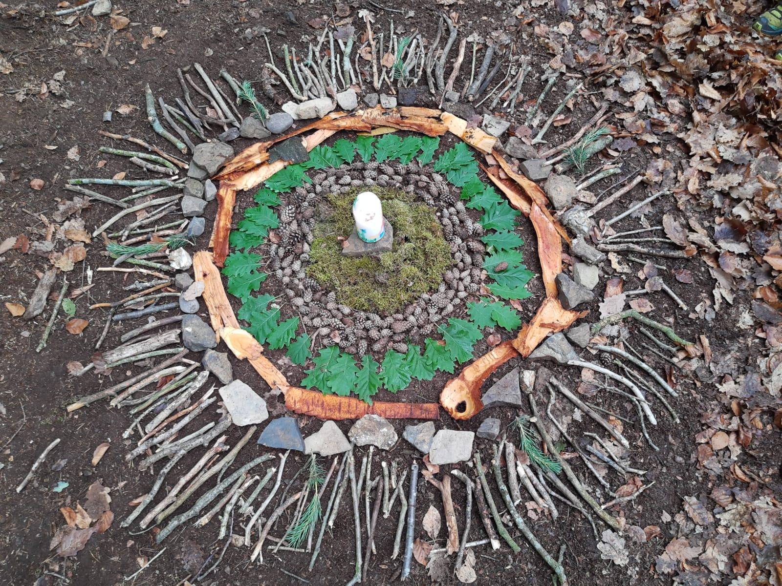 Foto - Das Wald-Mandala ist fertig!
