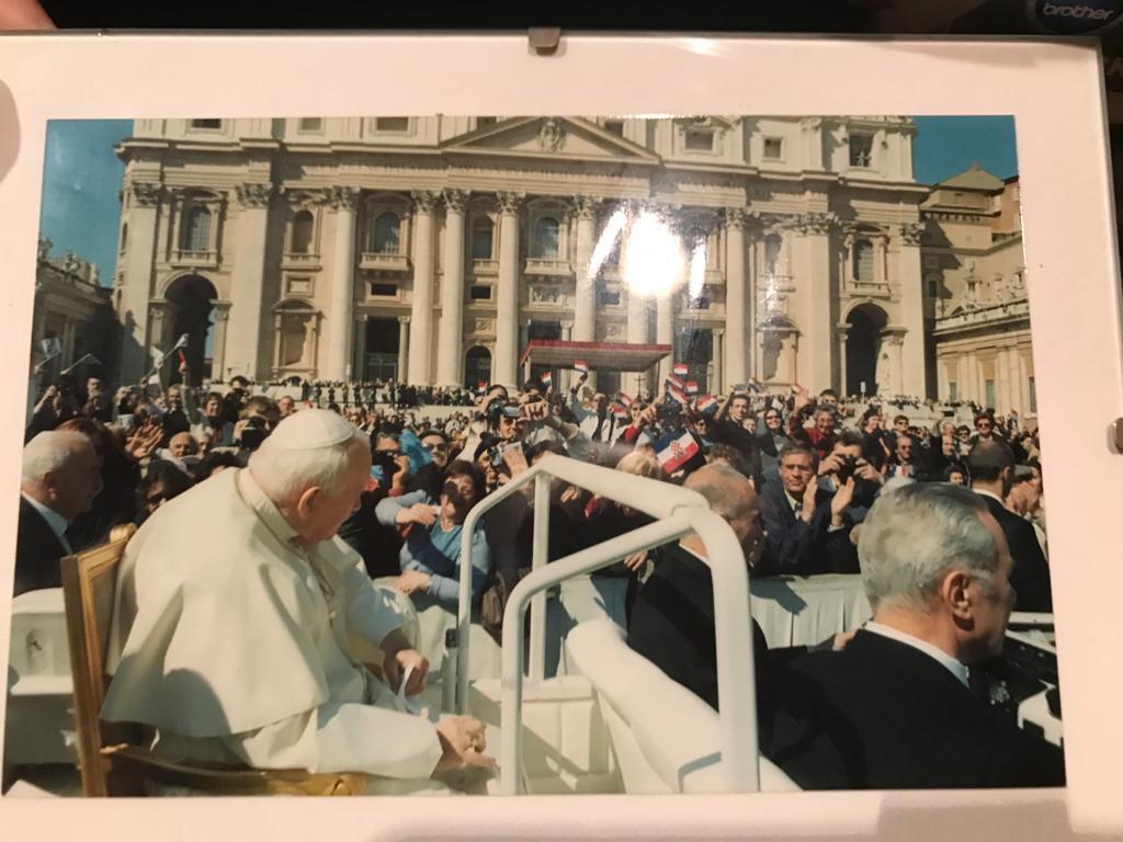Foto - Papst + Günter Klein