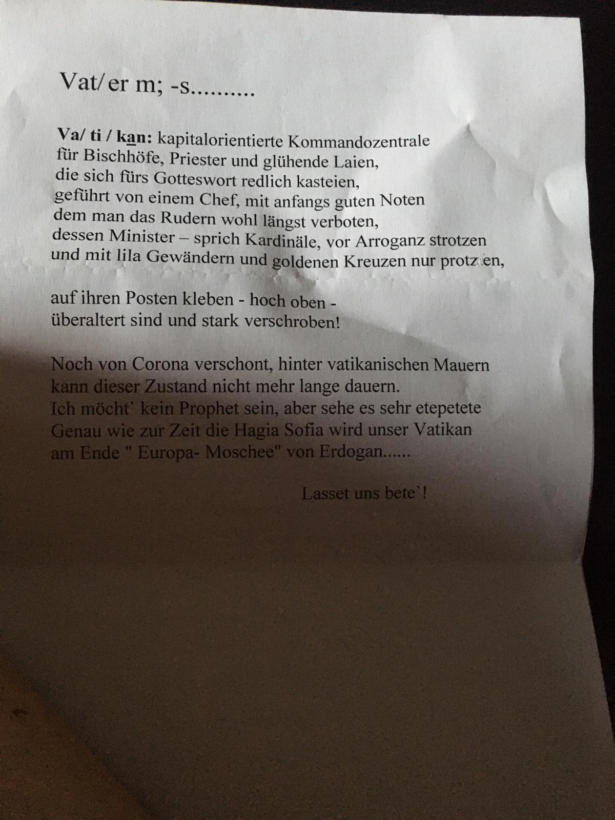 Text - Vatikan, ,männlich, von Franz Weber (2)